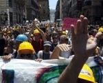 protesta aquilani a roma