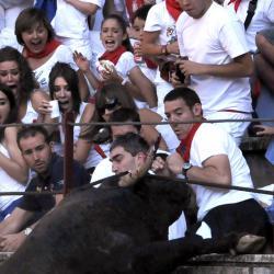 Il salto del toro (poi abbattuto)