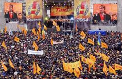 La piazza della rivoluzione arancione a Kiev