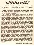 L'Avanti mussoliniana 1914