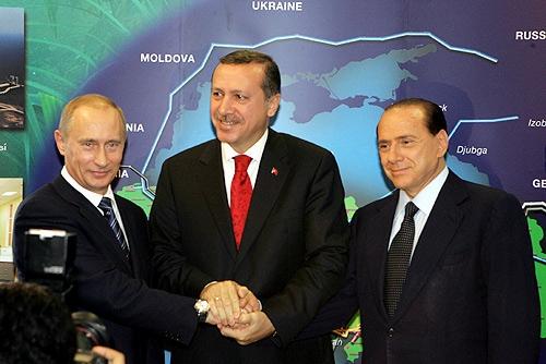 Putin Erdogan e Berlusconi firmano per il gas