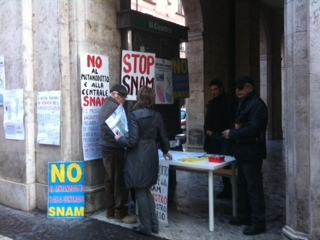 Protesta contro Snam a Sulmona