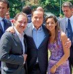 Sara, col padre (a sx) e Silvio (al centro)