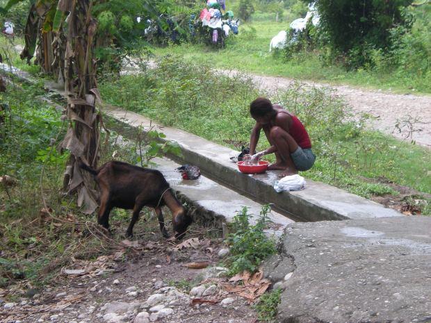 Una ragazza ad Haiti.