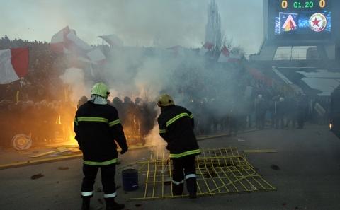 Gli incidenti allo stadio di Sofia