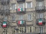 Bandiere nel centro di Torino