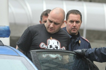 Ivan Bodganov al momento dell'arresto