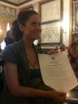 Sandra Rodriguez Nieto cittadina onoraria di Genova