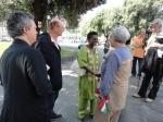 Yolande Mokagasana saluta il sindaco di Genova, Marta Vincenzi