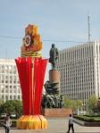 9 maggio e statua di Lenin