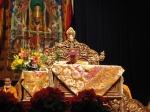 Il Dalai Lama prima della Iniziazione