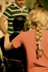 Marta abbraccia il suo papà