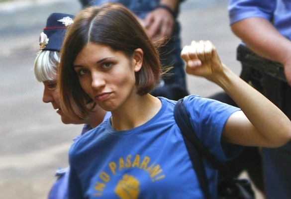 Nadya, leader delle Pussy Riot