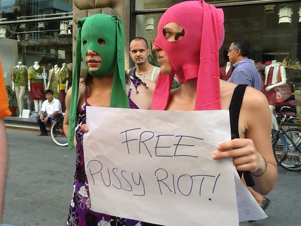 Free Pussy Riot a Milano