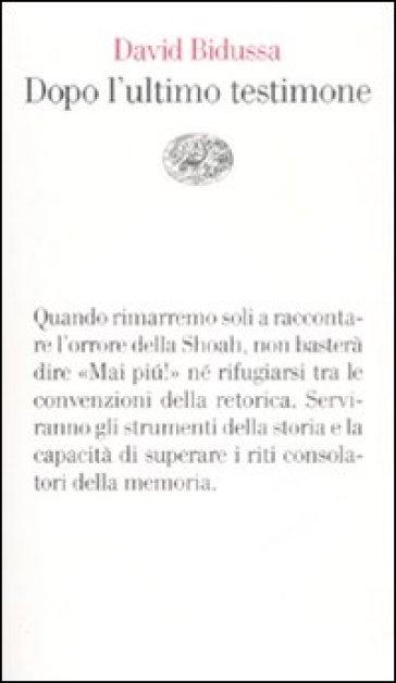 La copertina del libro di Bidussa