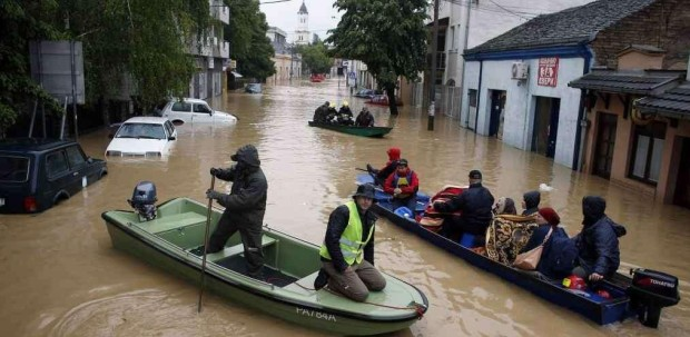 L'alluvione nei Balcani