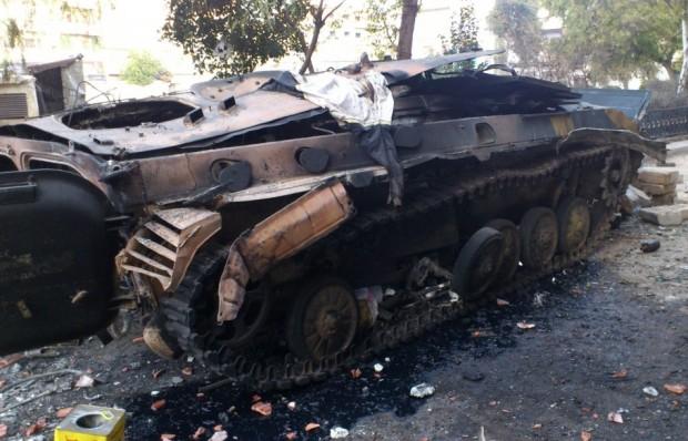 Carrarmato distrutto in Siria