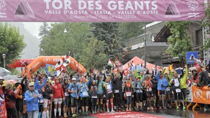 La partenza del Tor des Geants