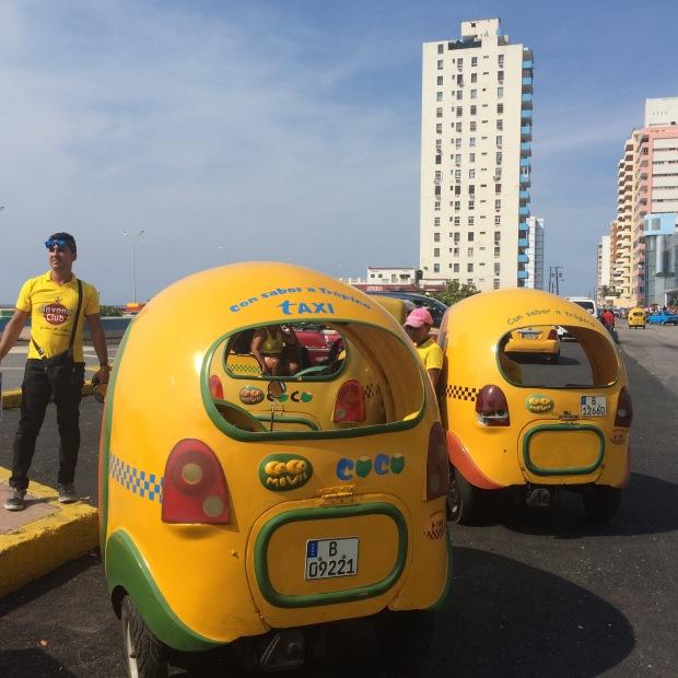 Coco-Taxi al Vedado, L'Avana, Cuba