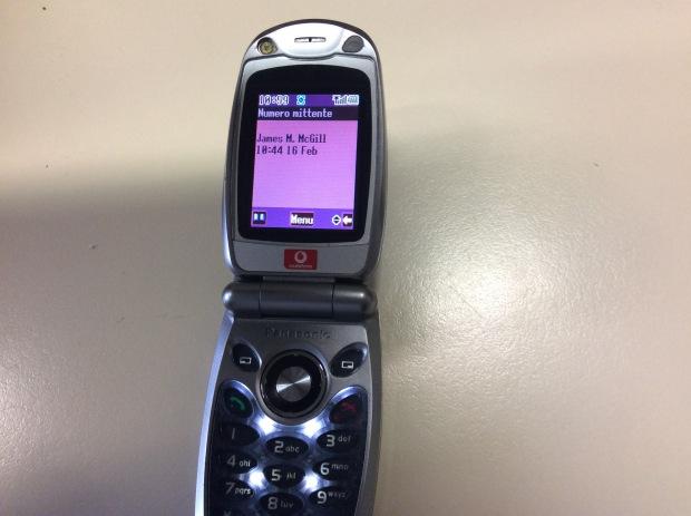 Il cellulare speditomi da McGill di Better Call Saul